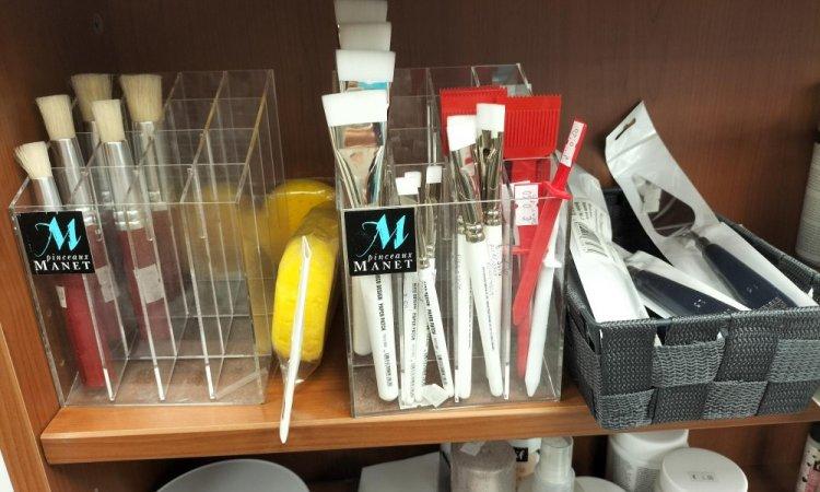 spatules et pinceaux